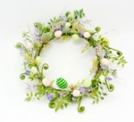 Egg floral wreath