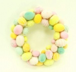 Color egg wreath
