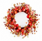 Apple and berry wreath