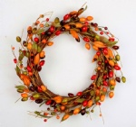 Berry Wreath with leaves