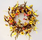 Harvest floral wreath
